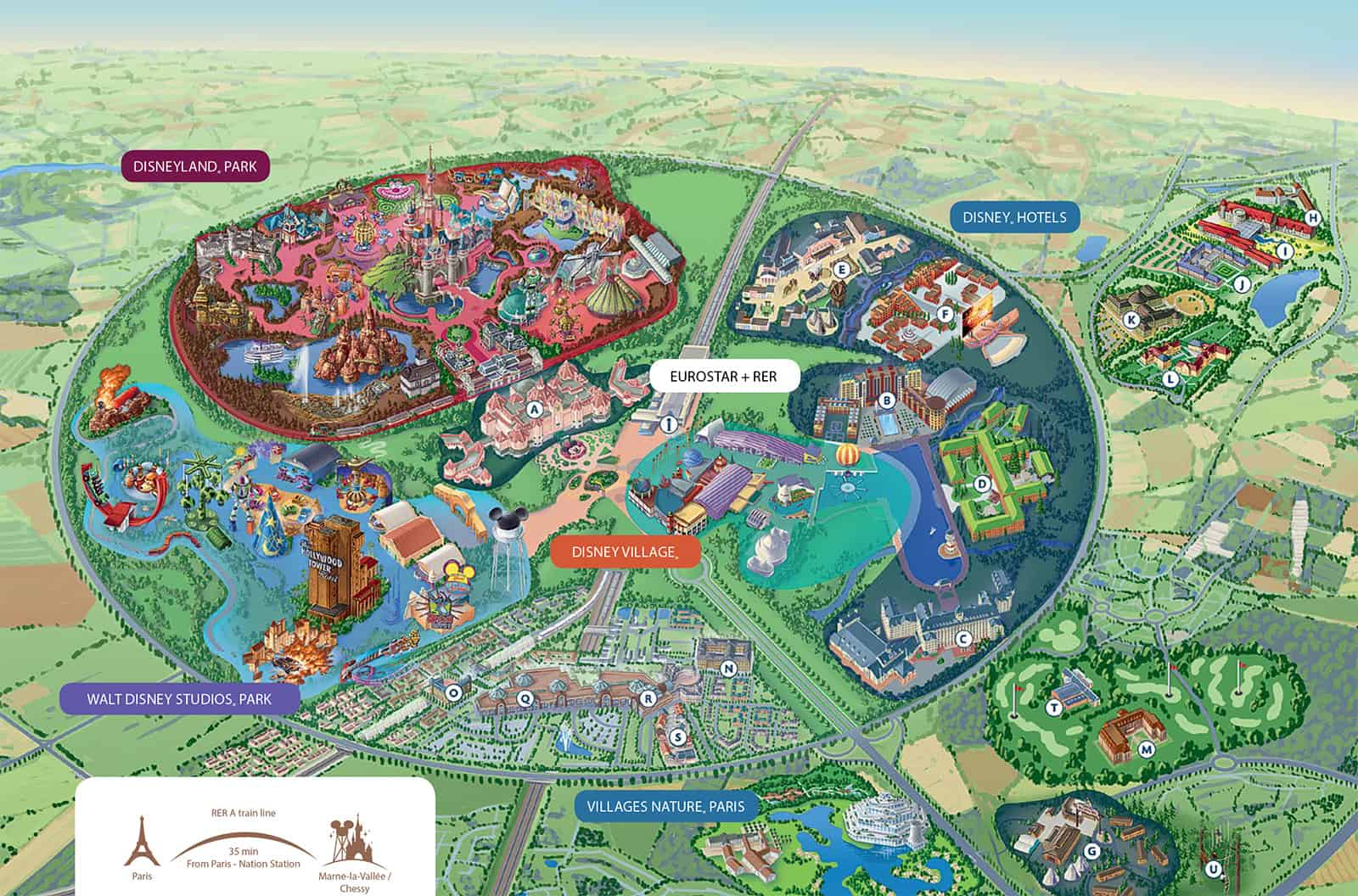 Disneyland στο Παρίσι Χάρτης