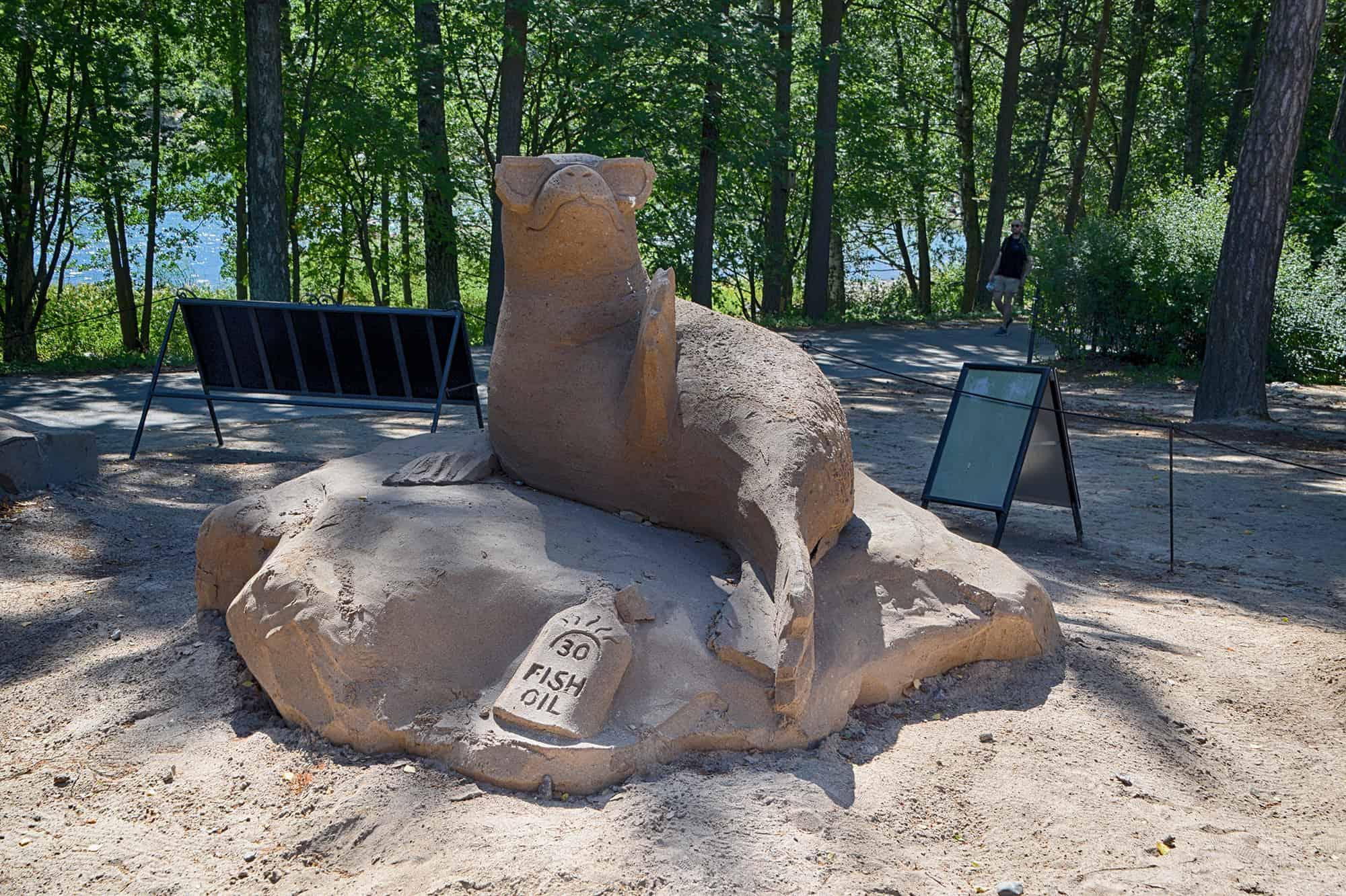 Πάντα υπάρχουν γλυπτά από άμμο στον ζωολογικό κήπο του Ελσίνκι
