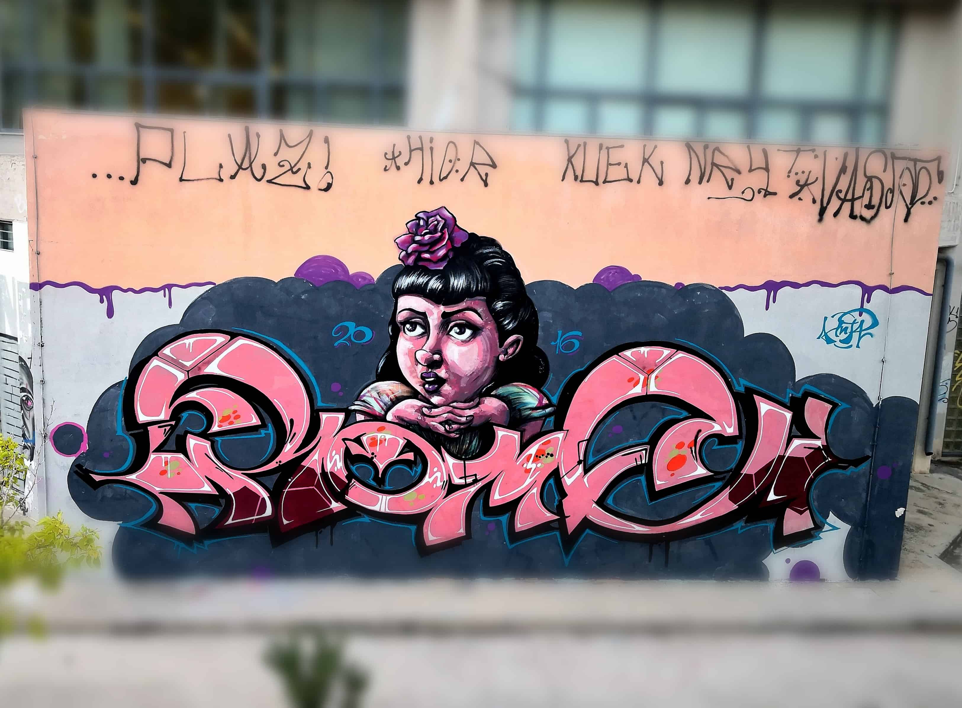 Pin Up Cartoon Graffiti