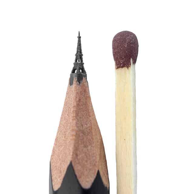 μικροσκοπικά γλυπτά σε μολύβι